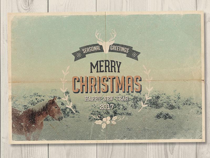 Vintage Christmas Cards by Andrea Maisenbacher   Dribbble   Dribbble