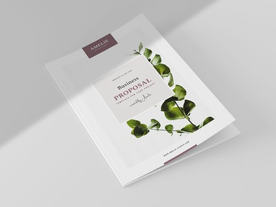 Business Proposal 2018 minimalistic brief booklet company profile project proposal proposal portfolio business brochure template indesign