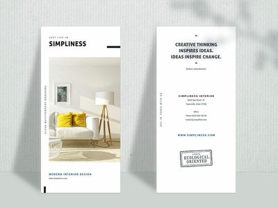 Trifold Brochure Simpliness advertising minimal trifold brochure trifold print photoshop template indesign