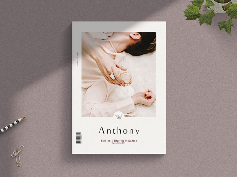 Anthony - Magazine Template magazin magazine design modern minimal feminine magazine template indesign