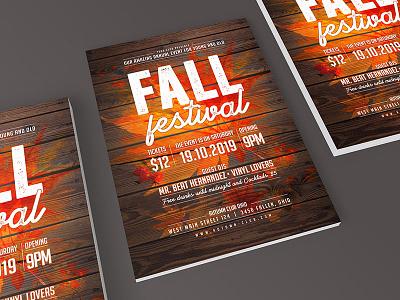 Fall Festival Flyer church poster flyer festival autumn party autum fall
