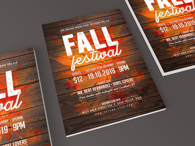 Fall Festival Flyer church poster flyer festival autumn party autum fall