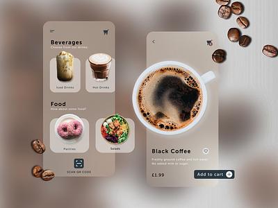Coffee Takeaway UI figma design interface figma product designs app ui product design design