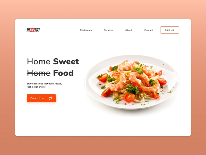 Dezzert Food Landing page ui library dailyuichallenge graphic design landingpage cuberto halo lab ui8net uiux dailyui application uxdesign app design uidesign app ux ui front-end development webdesign design