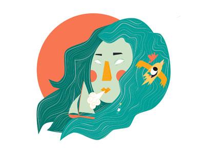 Rose of winds nature woman ship bird water sea wind