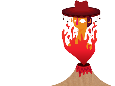 ¡Ay, caramba! artist vector graphicdesign character concept volcano illustration flame fire art character