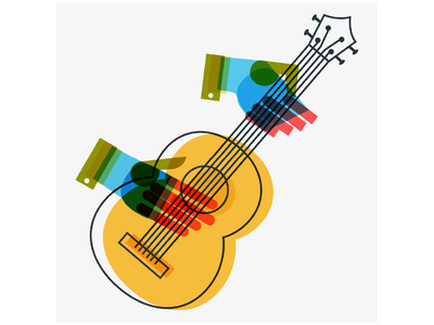 Guitar - Souvenirs From Earth overlay instrument guitar music graphics concept art poster illustrator color graphic design design artwork artist vector art illustration
