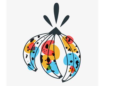 That's bananas! artdirection web app icon ui logo branding poster nature color illustrator flat  design graphic design design artwork artist art vector illustration bananas