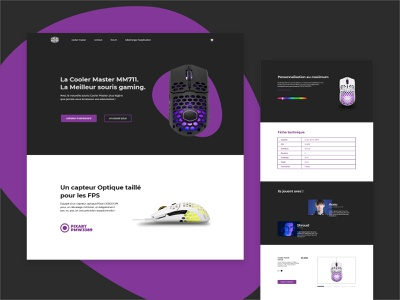 Landing page Cooler Master - Daily UI 03 web design web product design dailyuichallenge dailyui ui design ui design daily