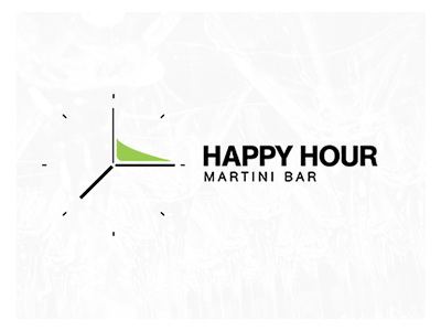 Happy Hour negativespace logolounge liquor booze martini evolvered hour happy logo