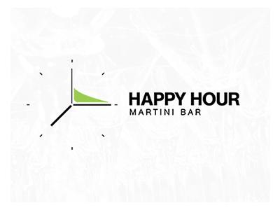 Happy Hour negativespace logolounge liquor booze martini evolvered hour happy logo