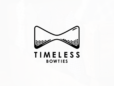 Timeless Bowties negativespace tie time fashion bowtie bow лого логотип evolvered sandclock hourglass timeless