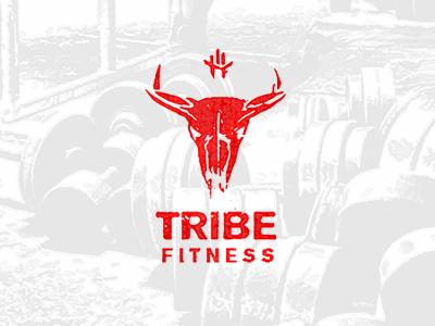 TribeFitness logolounge лого логотип muscles evolvered gym grunge identity logo fitness tribe