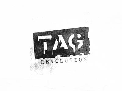Tag Revolution Logo logolounge urban graffiti logo design evolvered icon logodesign logo spraypaint paint revolution tagging