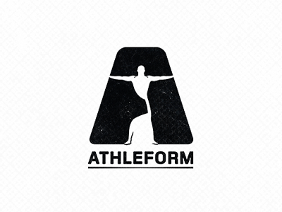 Athleform letter a smart logo man fitness shape human type brandmark mark logo design logodesign athletic