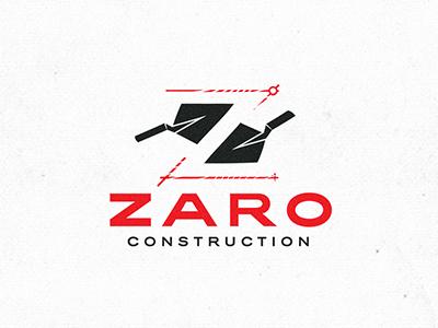 Zaro Construction boston logo designer boston logo alex evo trowel negative space logodesign logo construction