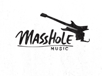 Masshole logo logo design music electric guitar guitar boston massachusetts mass logomark alex evo custom logo custom