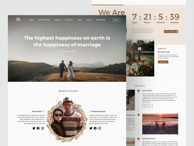 Wedding Landing Page minimalist 2020 layout website ux ui wedding agency design user experience user interface landing page inspiration simple clean elegant homepage web homepage design web design