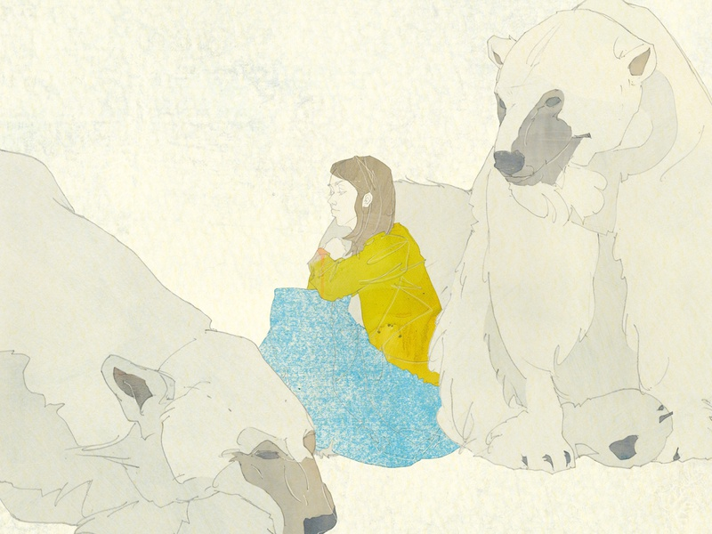 100311 03 w 2 woman animals illustration