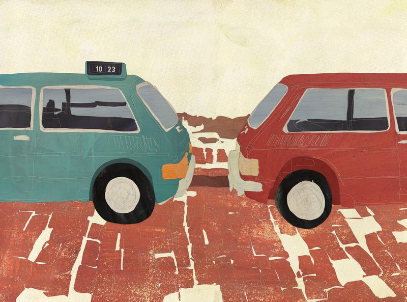 101022 02 car landscape illustration