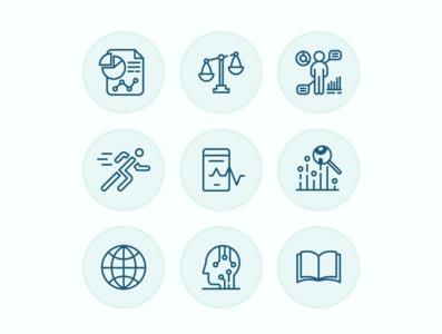 App IconSet illustrator vector icon design design intelligence business app icon icon set