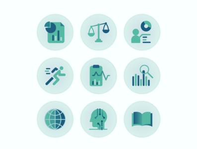 App IconSet2 gradient geometric intelligence business design icon design icon set icon vector illustrator