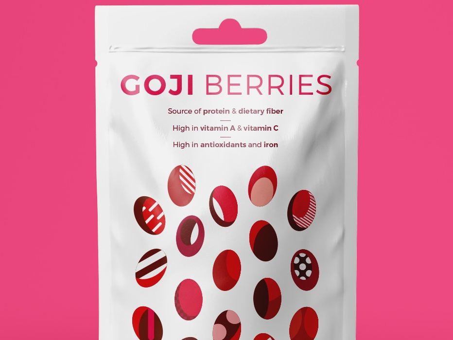 Goji Berries pattern pattern art pink berries goji goji berries packaging colorful illustration creative vector illustrator