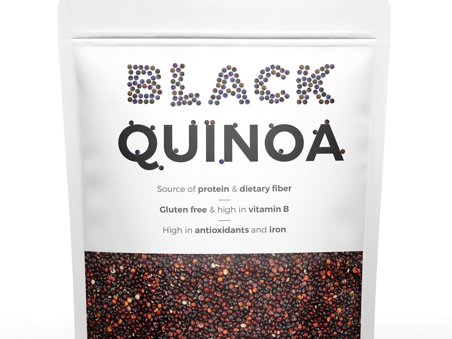 Black Quinoa health simple grains seeds packaging nuts black quinoa quinoa illustration illustrator