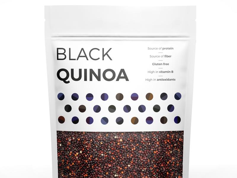 Black Quinoa grains seed nut simple pattern packaging black quinoa quinoa illustration illustrator