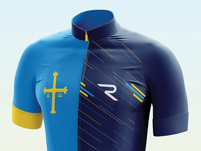 Asturias Edition spain flag emblem simple photoshoot illustrator rogersport pattern apparel design asturias culotte cyclist cycling maillot jersey