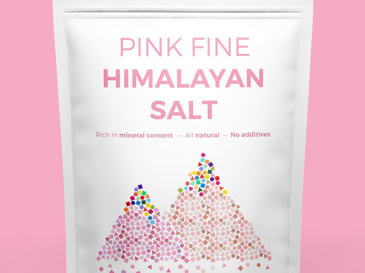 Pink Fine Himalayan Salt creative vector illustration illustrator pattern design pattern colorful packaging himalaya salt pink
