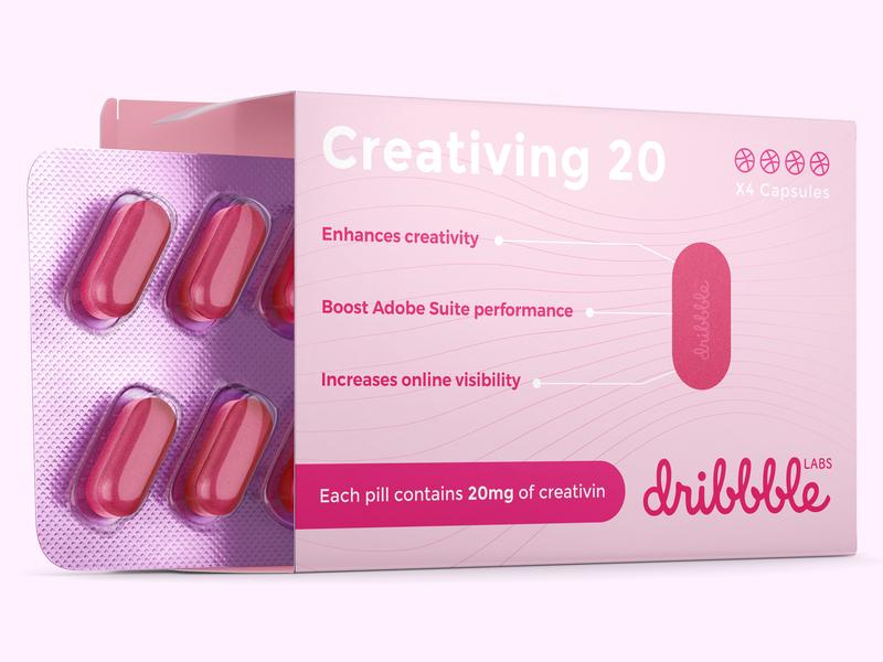 4 Invites for dribbble illustration pink invitation design funny photoshop illustrator mock up creativity pill dribbble invitation invites