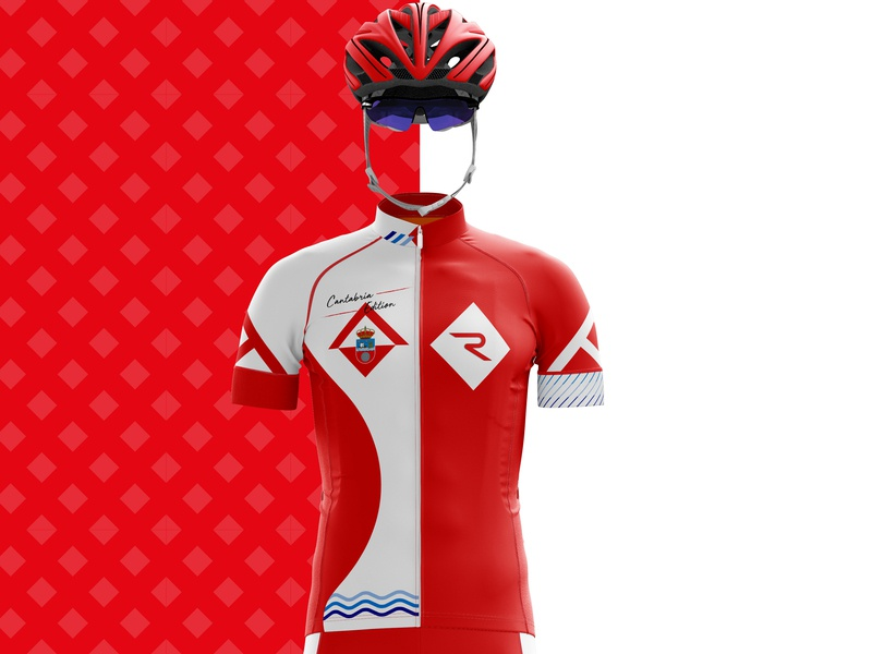 Cantabria Edition red flag spain cantabria sportswear jersey maillot cyclist cycling kit