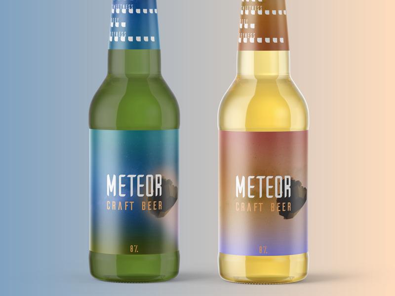 Meteor Craft Beer packaging photoshop illustrator creative design branding geometric alcohol meteor meteorite packaging design beer