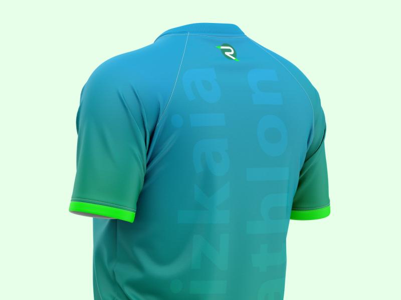 Bizkaia Triathlon 2020 Edition Back View vector geometric creative sporswear t shirt design t shirt cycling running fluor triathlon sublimation