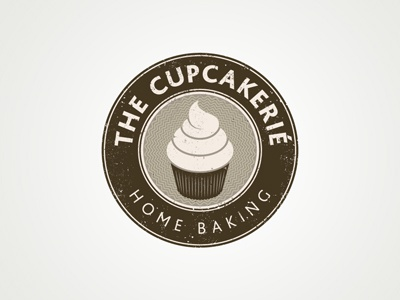 The Cupcakerie logo vintage