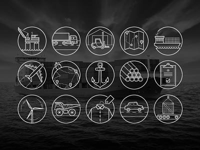 Logistics Icons icons illustration design