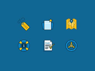 Franchise Benefits icons icons illustration design branding