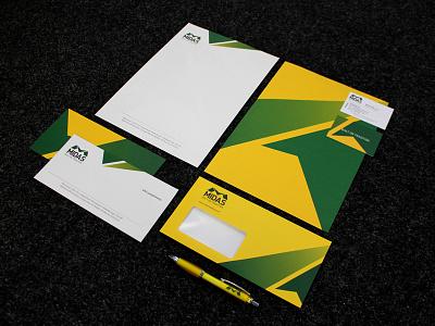 Midas Stationery logo design stationery branding