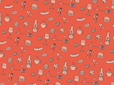 Illustrative Pattern quirky charity illustration pattern
