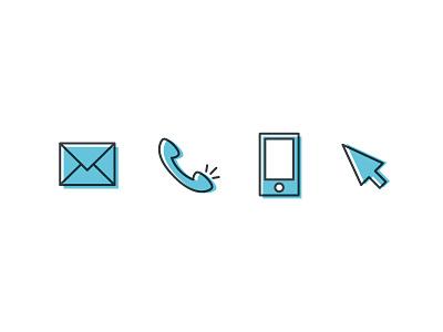 Contact Icons branding illustration icon