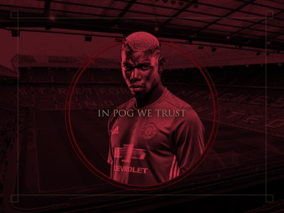 In Pog We Trust man united photoshop design