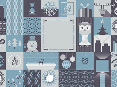 Festiveness christmas festive pattern design illustration