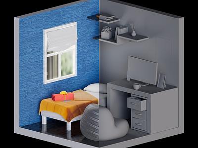 3D House 3dmodel 3dartist 3dredering digitalart artwork illustration design adobe aftereffect stylized cinema4d 3dart art motion graphics graphic design 3d
