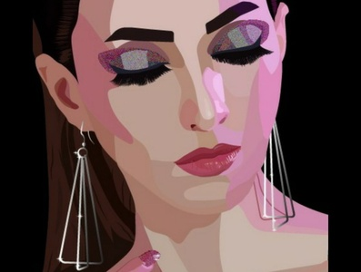 DUAL TONE ILLUSTRATION makeup eye makeup blogger fashion design vector illustration digital illustration digitalart adobe illustrator