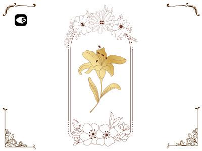 Floral Frame spiritual art