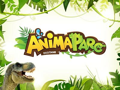 New logo for Animaparc typography vector illustration design identity branding logotype logo