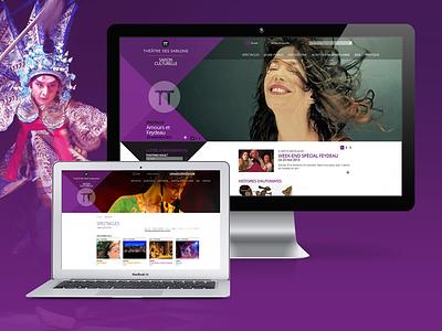 Théâtre des Sablons théâtre design site web