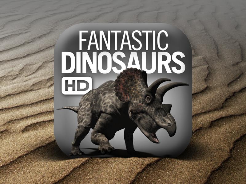 New icon for Fantastic Dinosaurs HD icon ios ipad app dinosaurs dinosaur