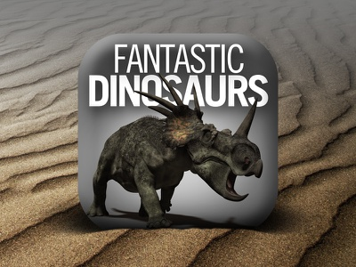 New icon for Fantastic Dinosaurs ios icon iphone app dinosaur dinosaurs fantastic